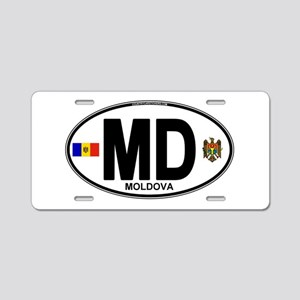 md-oval Aluminum License Plate